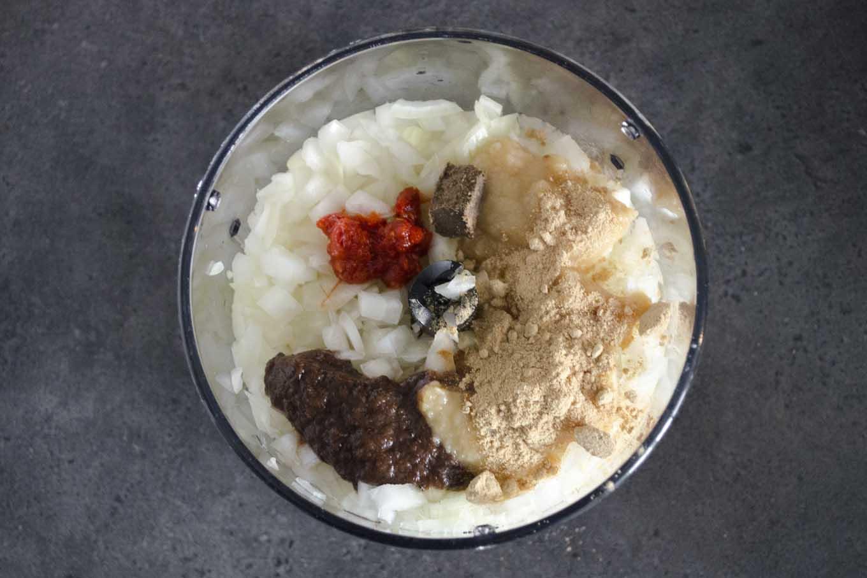 Boemboe voor Sambal goreng basah